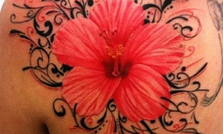 blumen-tattoo-Hot Pink