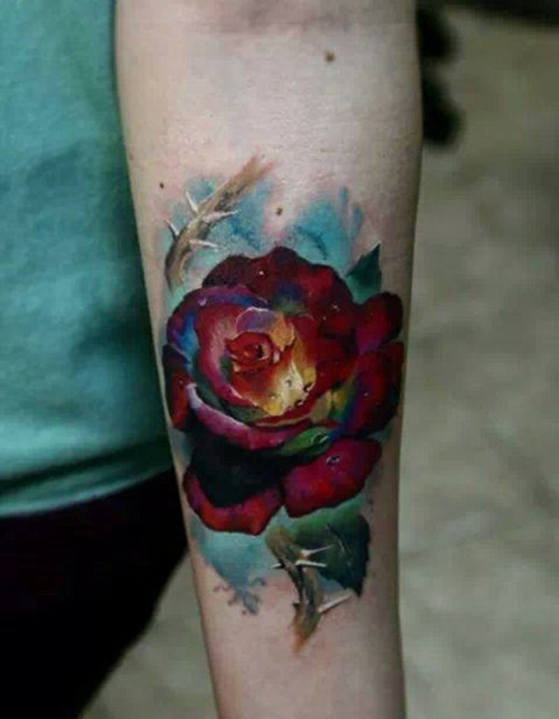 Einfaches Design, bestehend aus Rosen