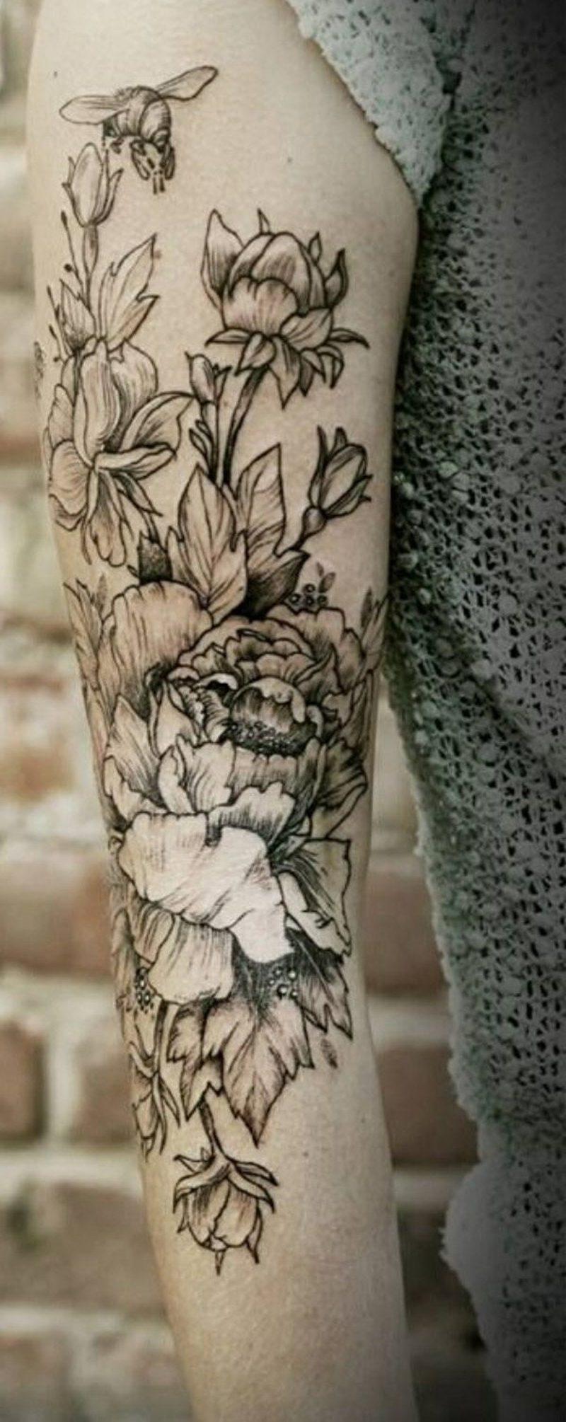 100 herrliche blumen tattoo entw rfe f r ihre eigene. Black Bedroom Furniture Sets. Home Design Ideas