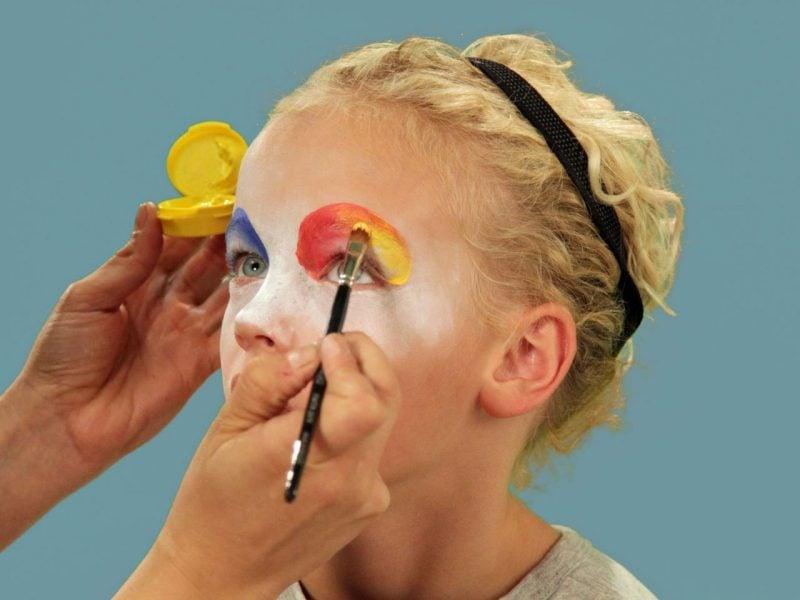 Kinder Clowngesicht schminken