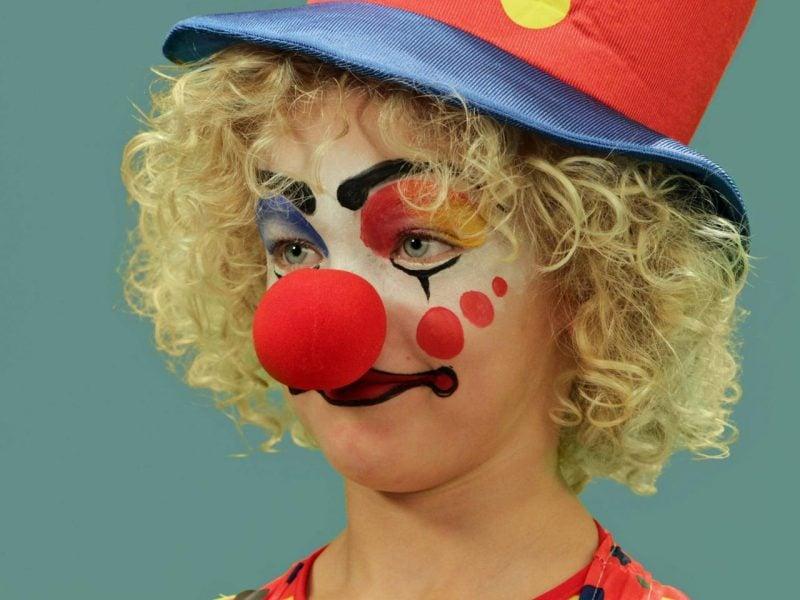 clown gesicht malen