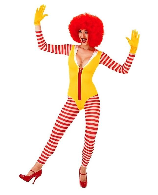 Clown schminken Karnevalskostüm