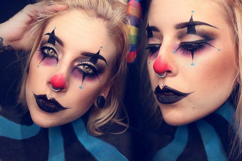 fasching make up im letzten moment clown schminken anleitung diy fasching zenideen. Black Bedroom Furniture Sets. Home Design Ideas