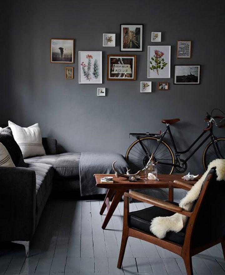 wohnzimmer einrichten ideen dunkle farben