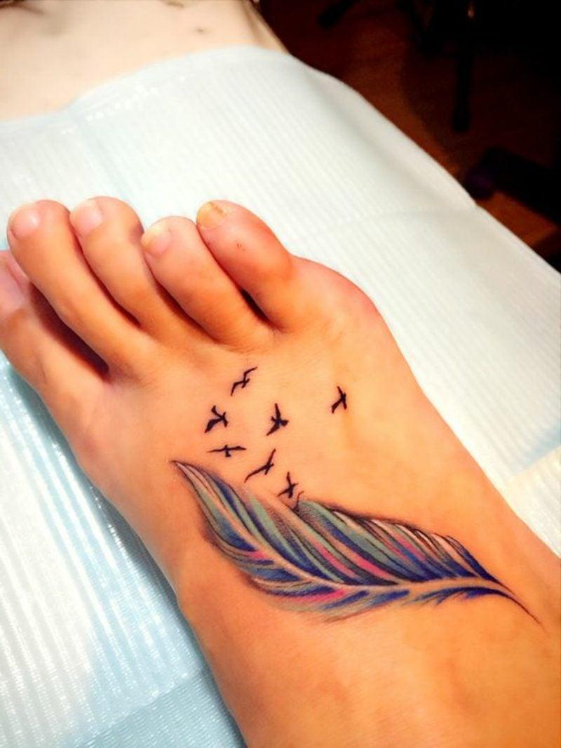 Anspruchsvoll Feder Tattoo Unterarm Beste Wahl Mit Vögel