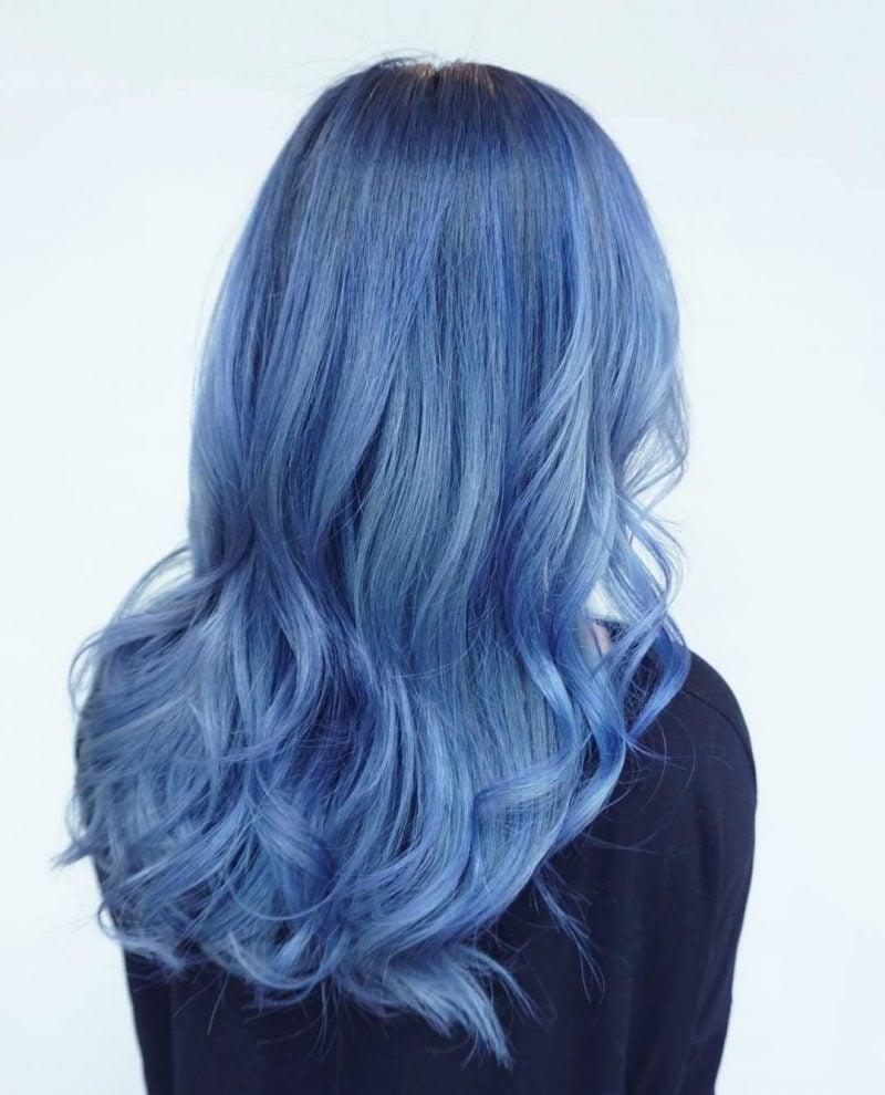 blaue haare haarfarben blau trend haarfarbe haare blau färben