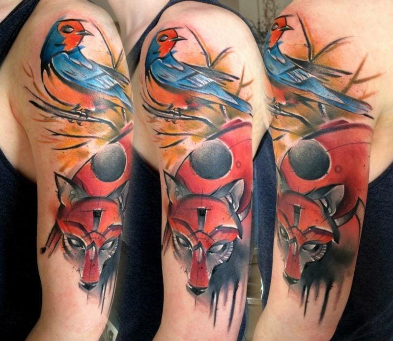 wolken tattoo