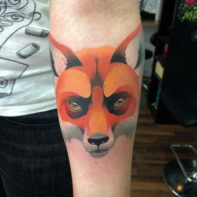 Wasserfrabe Fuchs Tattoo