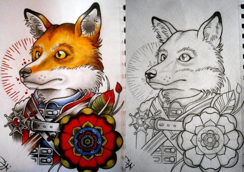 37 wunderschöne Ideen für ein Fuchs Tattoo - Tattoos