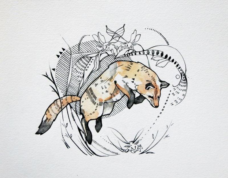 Fuchs Tattoo Sprung