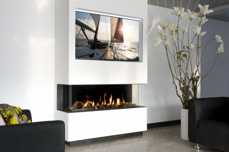 Wer auf das Knistern und den Geruch von brennenden Holzscheiten verzichten kann, der ist beim Gaskamin richtig aufgehoben