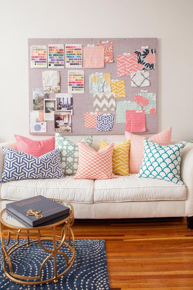Geometrische Formen auch auf dem Sofa