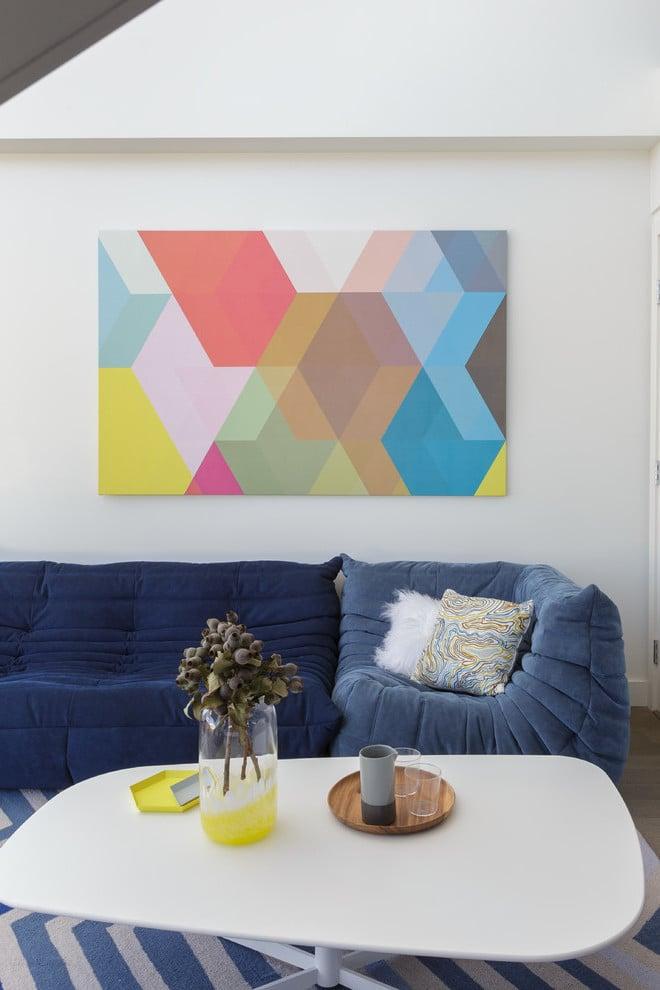 Geometrische Formen im skandinavischen Stil