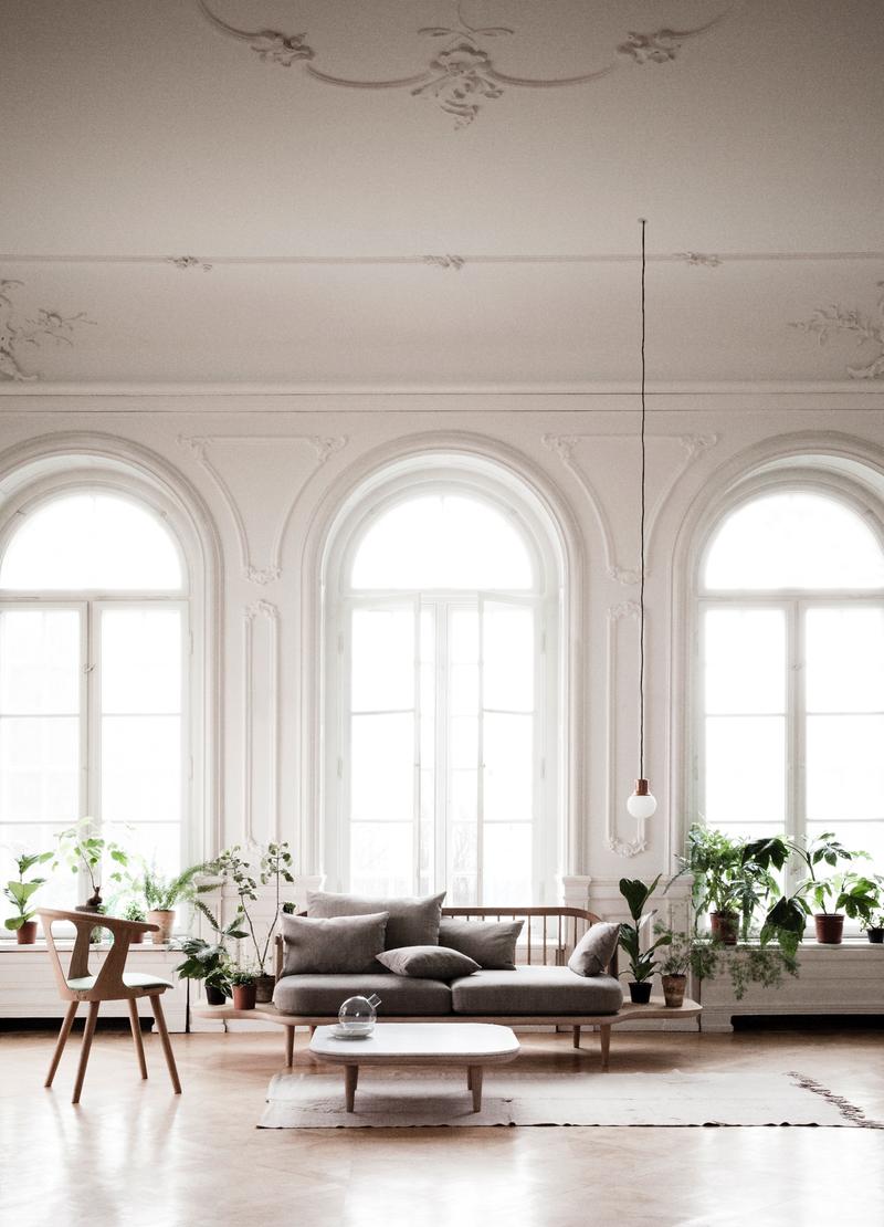 minimalismus wohnzimmer einrichten ideen sofa tisch