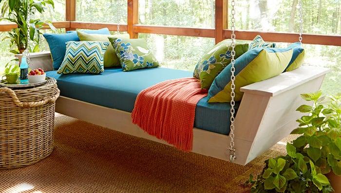 bett selber bauen anleitung wohnung einrichten hängebett selbst bauen diy betten garten terrasse