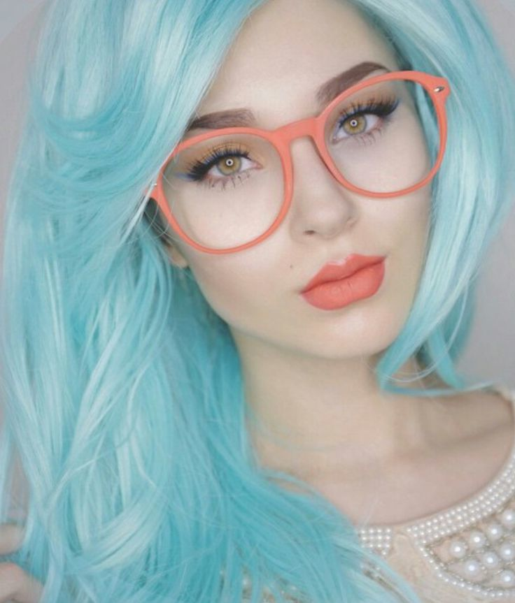 Haare farben in blau