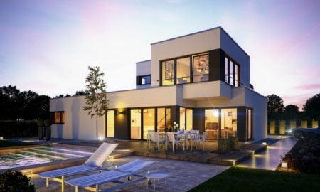 unterschiedliche Haustypen moderne Häuser Fertighaus