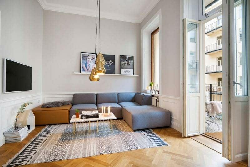 Wohnzimmer gestalten skandinavischer Stil