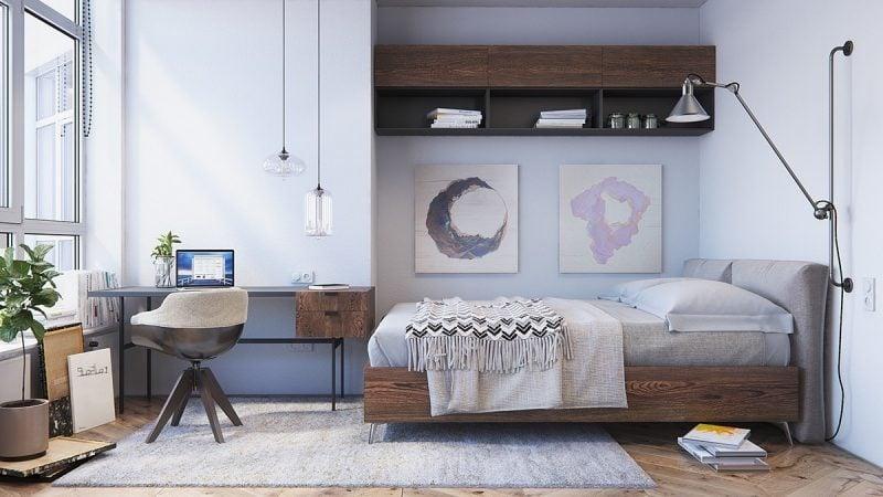 Beleuchtung Farben Schlafzimmer Einrichten Ideen Skandinavische Möbel Holz