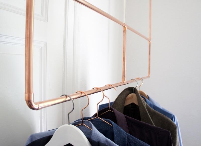 schöne wohnideen einrichtungstipps einrichtungsideen kleiderstange kupfer garten und wohnen wohnidee