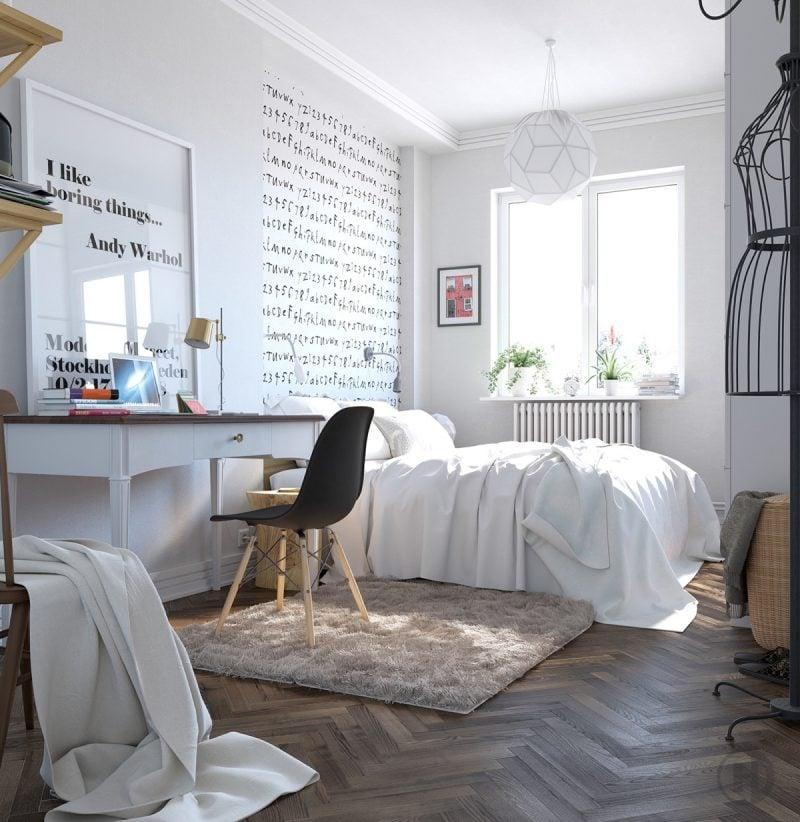 Attraktiv Schlafzimmer Design Einrichtungsideen Skandinavisches Schlafzimmer