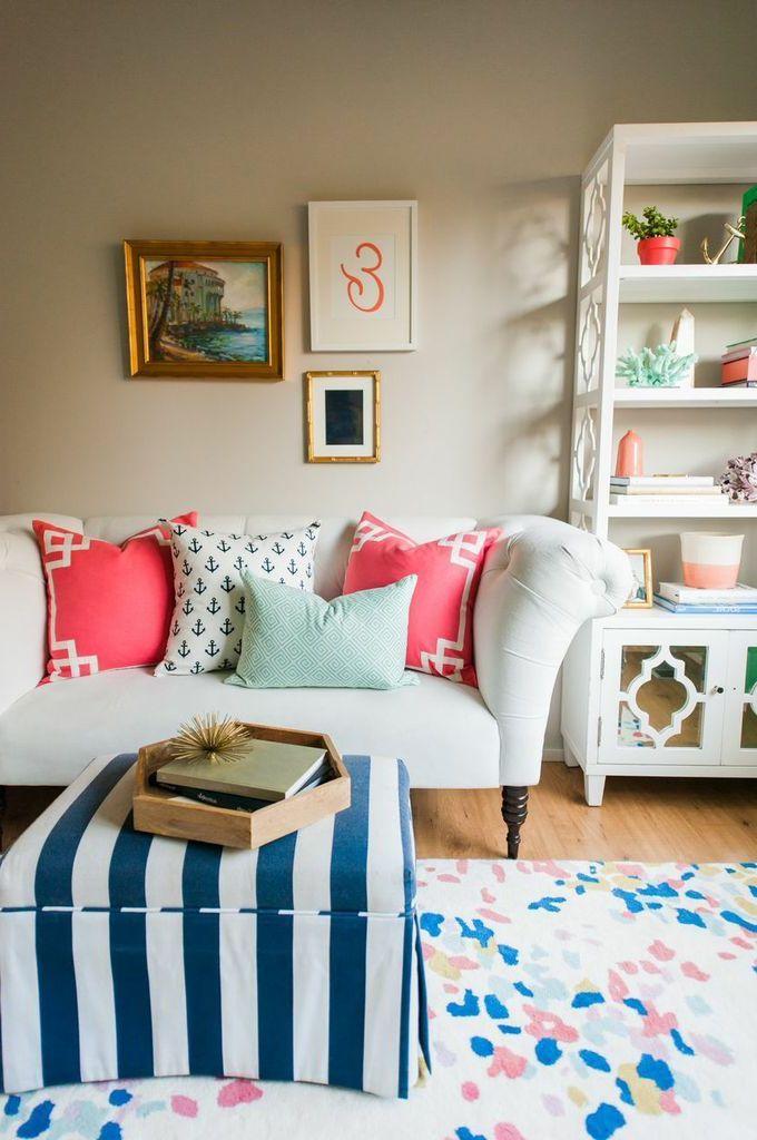 wohnzimmer einrichten deko kissen sofa