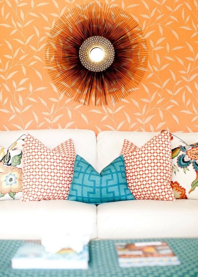 wohnzimmer einrichten ideen deko kissen