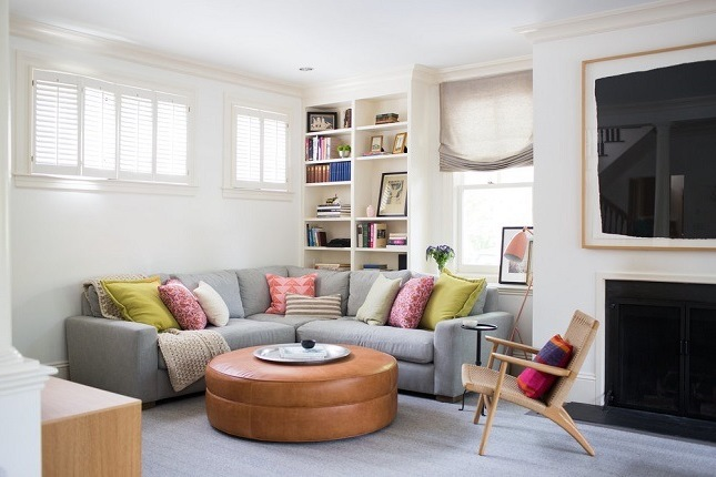 Wohnzimmer Gestalten Einrichtungsideen Deko Kissen Sofa Tisch