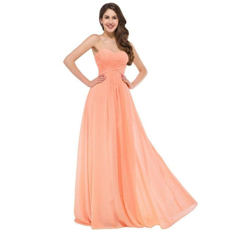Hochzeitskleid Apricot Farbe elegant untraditionell