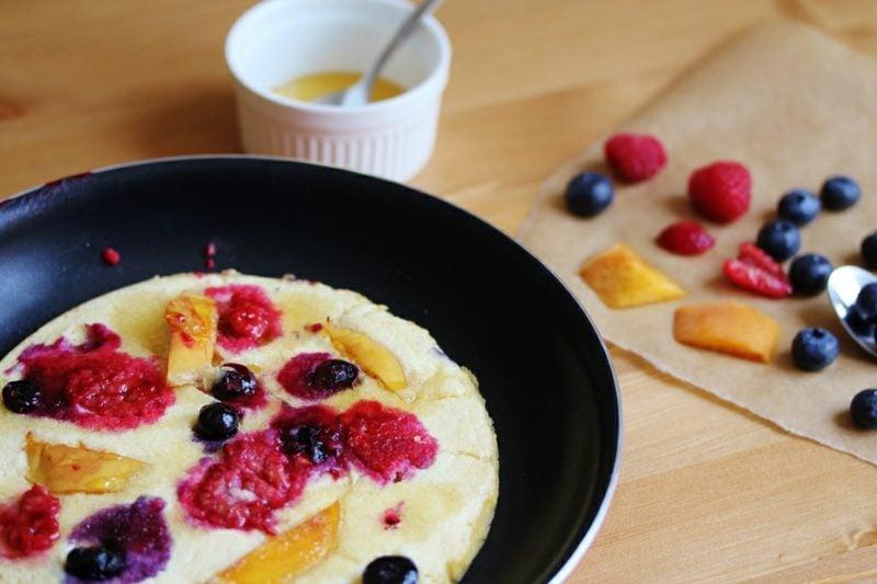 Pfannkuchen Rezept ohne Milch frisches Obst