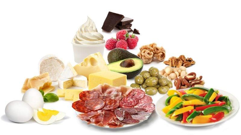 Diät ohne Kohlenhydrate Lebensmittel Pyramide