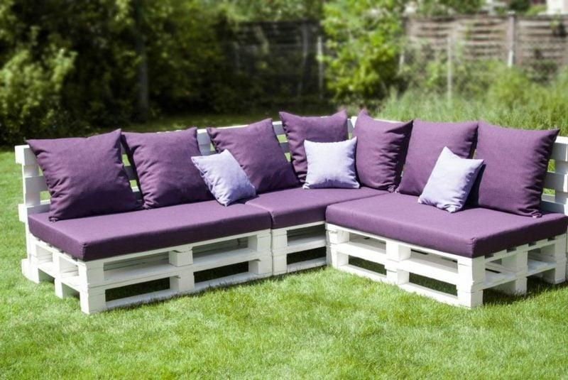 Lounge-Sofa aus Paletten