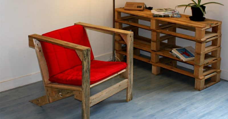 Mini Holz Palette Stuhl