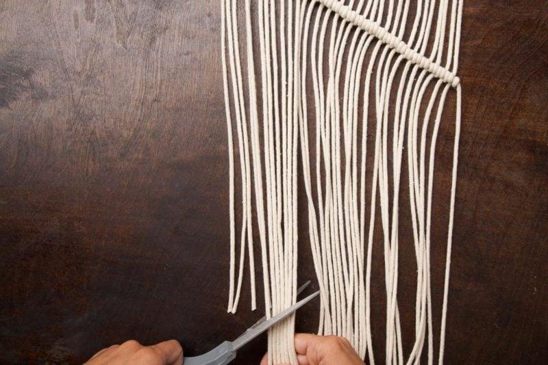 wandgestaltung wohnzimmer ideen wandbehang selber machen anleitung