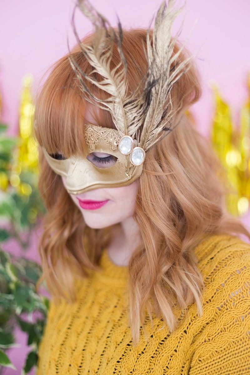 weihnachtsfeier masken selber machen 50 ideen f r jeden anlass diy weihnachtsdeko ideen. Black Bedroom Furniture Sets. Home Design Ideas