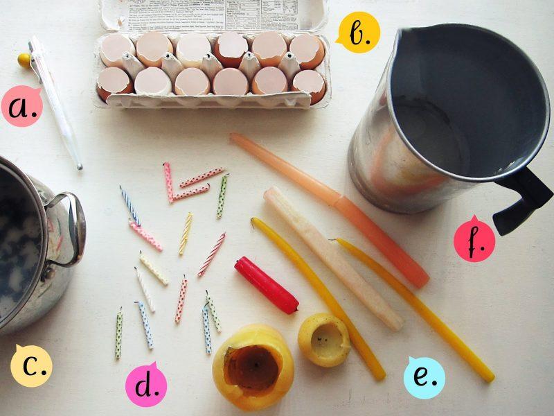 bastelideen ostern osterbasteleien osterkerzen aus eierschalen basteln anleitung materialien