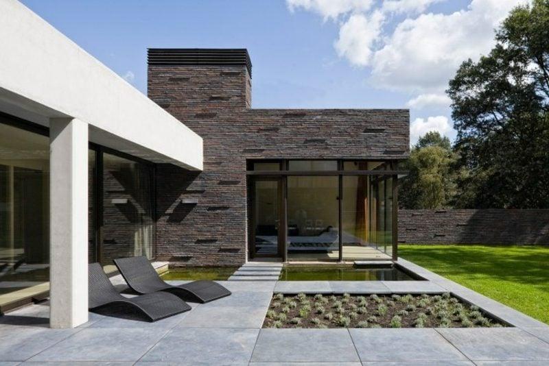 Terrassengestaltung modern minimalistischer Stil