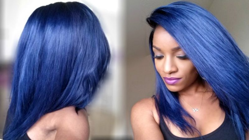 blaue haare haarfarben blau trend haarfarbe frauen männer