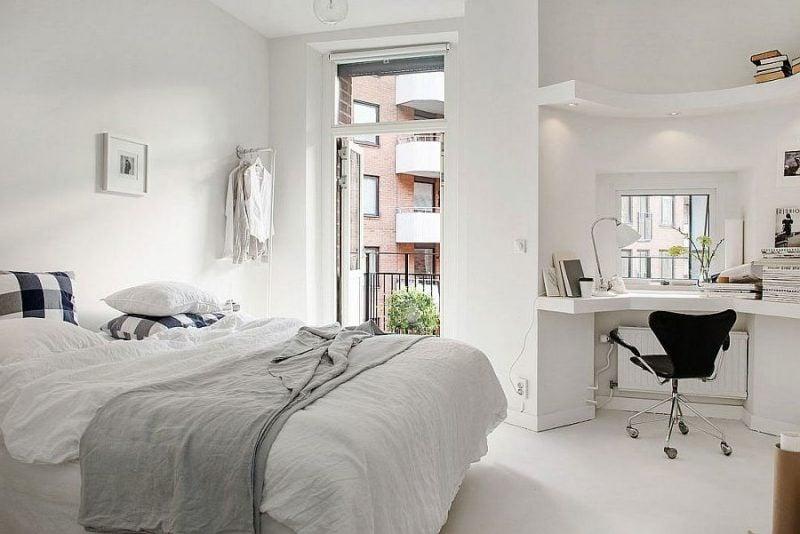 schlafzimmer design ideen skandinavischer stil weiß farben licht