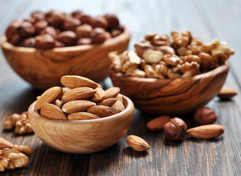 gesunde snacks kalorienarme snacks nüsse