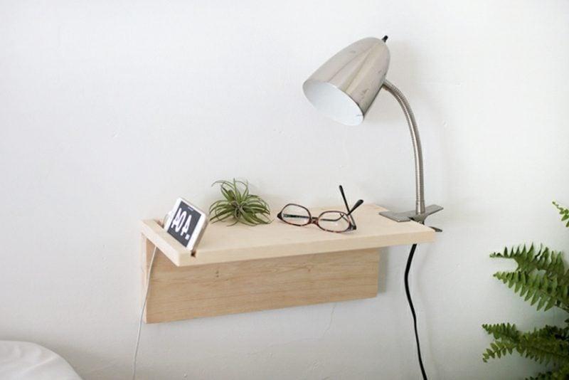 Diy Nachttisch nachttisch zum einhängen praktische schlafzimmerlösung möbel