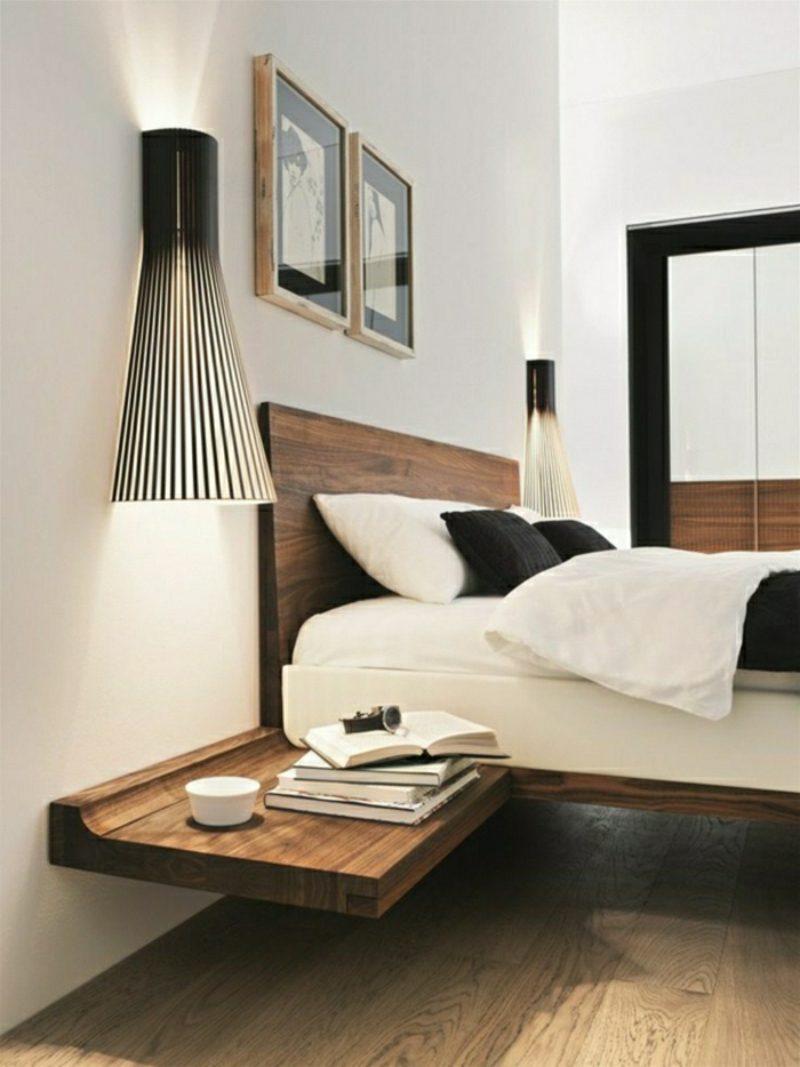 Nachttisch zum einh ngen praktische schlafzimmerl sung - Schlafzimmer nachttisch ...