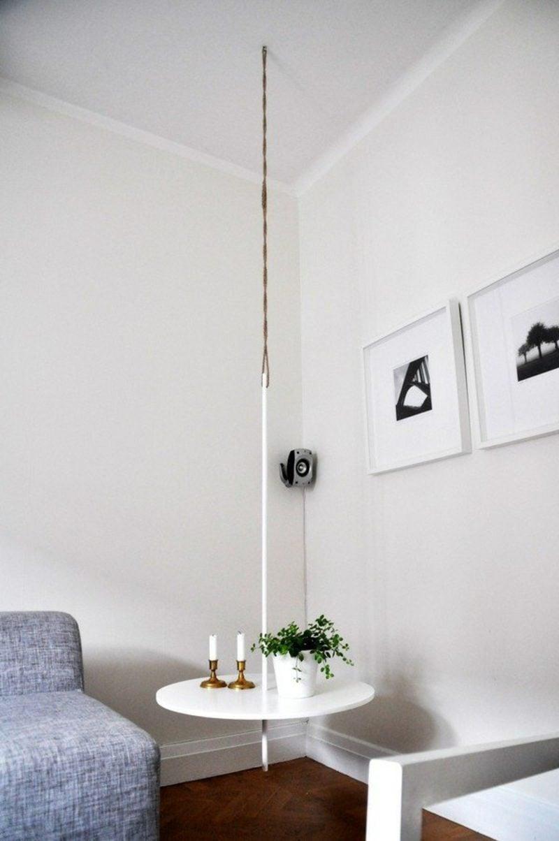 Hängender Nachttisch nachttisch zum einhängen praktische schlafzimmerlösung möbel