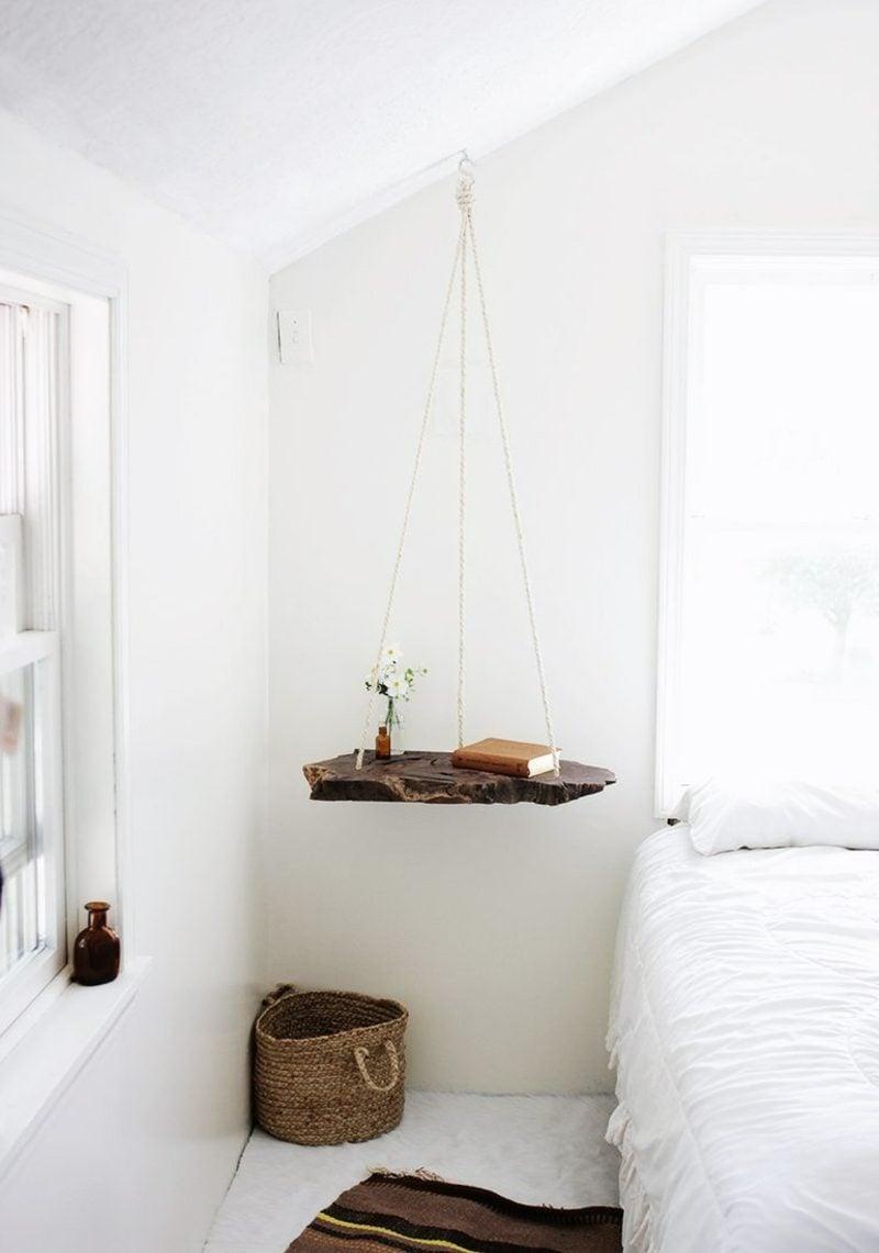 nachttisch zum einhängen - praktische schlafzimmerlösung - möbel