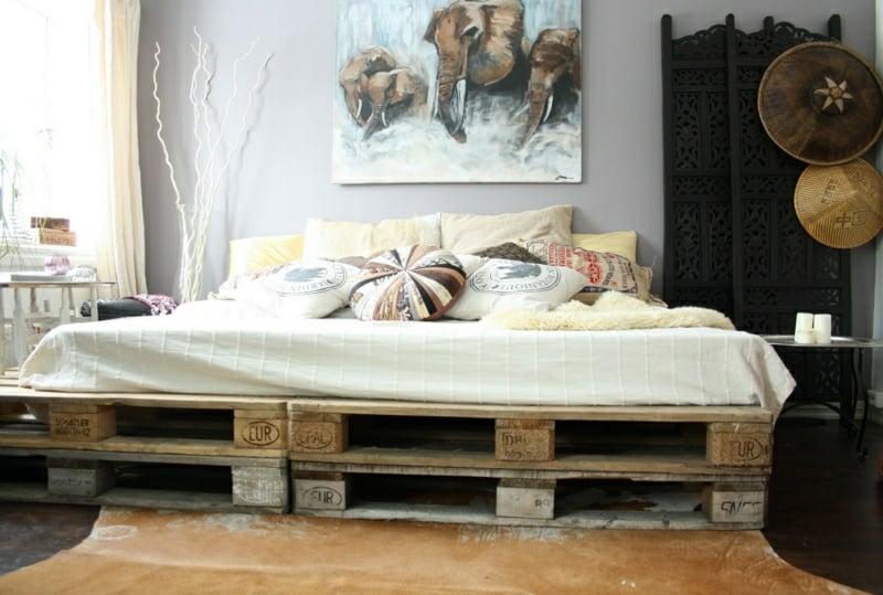 Palettenbett Möbel Aus Europaletten