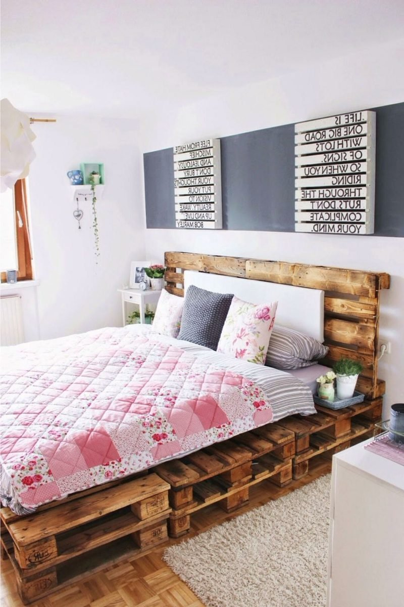 52 diy palettenbett designs m bel schlafzimmer zenideen. Black Bedroom Furniture Sets. Home Design Ideas
