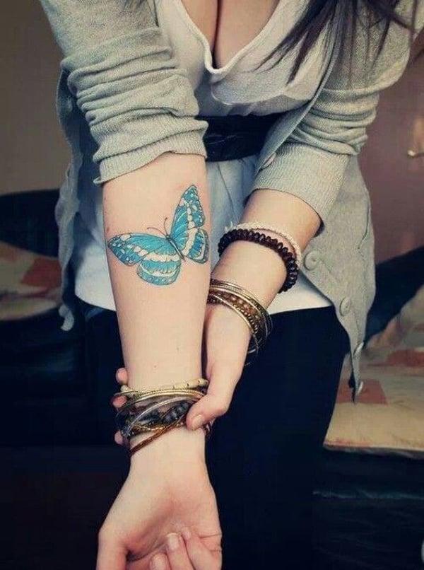Wie wird das Schmetterling Tattoo tätowiert?