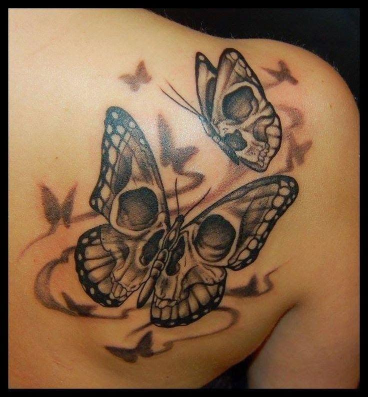 Schwarzer Schmetterling Bedeutung - Totenkopf