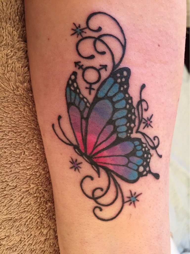 Tattoo Schmetterlinge Frauen Rücken