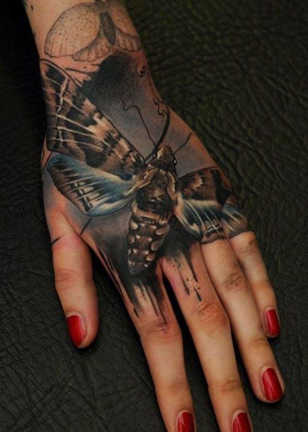 Tattoo Schmetterling Hand